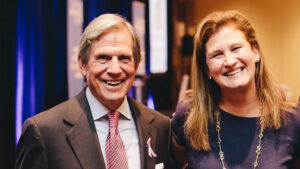 Peter Grauer and Nicole Hurd.